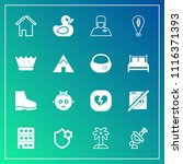 modern  simple vector icon set... | Shutterstock .eps vector #1116371393