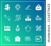 modern  simple vector icon set... | Shutterstock .eps vector #1116375623