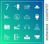 modern  simple vector icon set... | Shutterstock .eps vector #1116376727