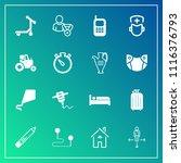 modern  simple vector icon set... | Shutterstock .eps vector #1116376793