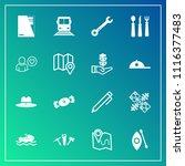 modern  simple vector icon set... | Shutterstock .eps vector #1116377483