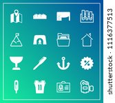 modern  simple vector icon set... | Shutterstock .eps vector #1116377513