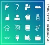 modern  simple vector icon set... | Shutterstock .eps vector #1116378677