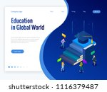 isometric education in global... | Shutterstock .eps vector #1116379487