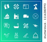 modern  simple vector icon set... | Shutterstock .eps vector #1116380993