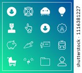 modern  simple vector icon set... | Shutterstock .eps vector #1116381227