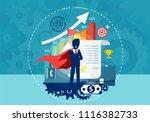 character cartoon of super hero ... | Shutterstock .eps vector #1116382733