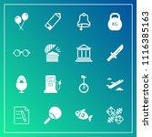modern  simple vector icon set... | Shutterstock .eps vector #1116385163