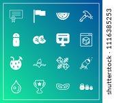 modern  simple vector icon set... | Shutterstock .eps vector #1116385253