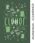 stay clever  vector beautiful... | Shutterstock .eps vector #1116404423