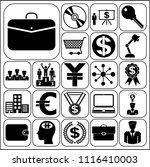set of 22 business related... | Shutterstock .eps vector #1116410003