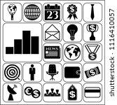 set of 22 business symbols of... | Shutterstock .eps vector #1116410057