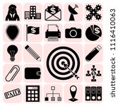 set of 22 business icons  high... | Shutterstock .eps vector #1116410063