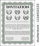 green formal invitation. with... | Shutterstock .eps vector #1116410123