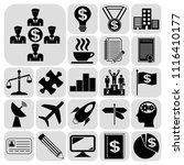 set of 22 business icons ... | Shutterstock .eps vector #1116410177