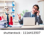 businessman working with... | Shutterstock . vector #1116413507