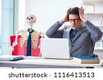 businessman working with... | Shutterstock . vector #1116413513