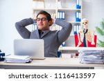 businessman working with... | Shutterstock . vector #1116413597