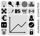 set of 17 business high quality ... | Shutterstock .eps vector #1116417533