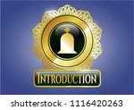 gold emblem or badge with... | Shutterstock .eps vector #1116420263
