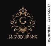 logo luxury with design element ... | Shutterstock .eps vector #1116423767