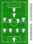 vector soccer field with the... | Shutterstock .eps vector #1116424013