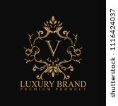 logo luxury with design element ... | Shutterstock .eps vector #1116424037