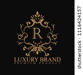 logo luxury with design element ... | Shutterstock .eps vector #1116424157