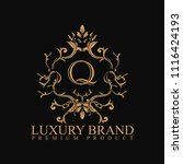 logo luxury with design element ... | Shutterstock .eps vector #1116424193