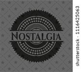 nostalgia black badge | Shutterstock .eps vector #1116425063