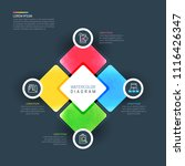 colorful infographic design... | Shutterstock .eps vector #1116426347