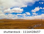 qinghai tibet plateau scenery... | Shutterstock . vector #1116428657