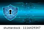 safety concept  closed padlock... | Shutterstock .eps vector #1116429347