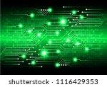 binary circuit board future... | Shutterstock .eps vector #1116429353