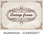 decorative frame in vintage... | Shutterstock .eps vector #1116432617