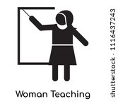 woman teaching icon vector... | Shutterstock .eps vector #1116437243