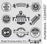 vector set  vintage weight... | Shutterstock .eps vector #111644327