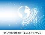 vector world with communication ... | Shutterstock .eps vector #1116447923