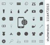 mobile telophone with globe... | Shutterstock .eps vector #1116472013