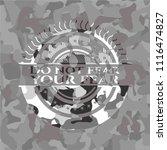 do not fear your fear on grey... | Shutterstock .eps vector #1116474827
