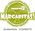 Margarita Cocktail Bar Stamp - stock vector