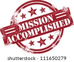 Mission Accomplished Reward Stamp - stock vector