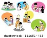 the seven sacraments | Shutterstock .eps vector #1116514463