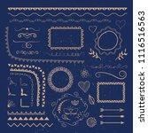 vector set of calligraphic... | Shutterstock .eps vector #1116516563