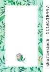 greeting card watercolor leaves ... | Shutterstock . vector #1116518447
