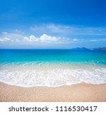 beach and beautiful tropical sea | Shutterstock . vector #1116530417