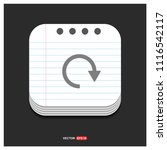 reload icon   free vector icon   Shutterstock .eps vector #1116542117