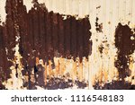 corroded white metal background.... | Shutterstock . vector #1116548183