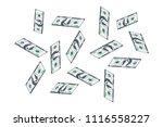 one hundred dollar bills are...   Shutterstock .eps vector #1116558227