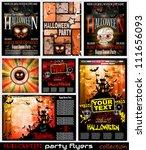 halloween horror party flyer...   Shutterstock .eps vector #111656093